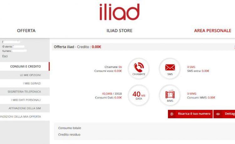 Iliad Italia: come controllare il credito residuo