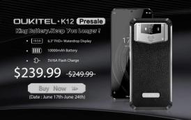 OUKITEL K12: prevendite al via a 239,99 dollari, ricarica completa in 2H15Min tramite caricatore rapido 5V / 6A e molto altro