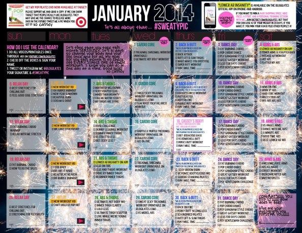 jan 2014 calendar