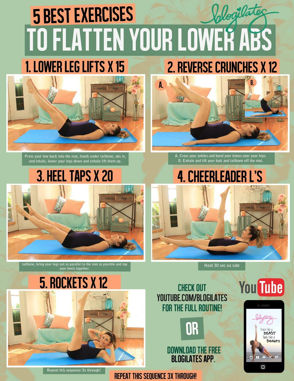 5 Best Exercises To Flatten Your Lower Abs Printable