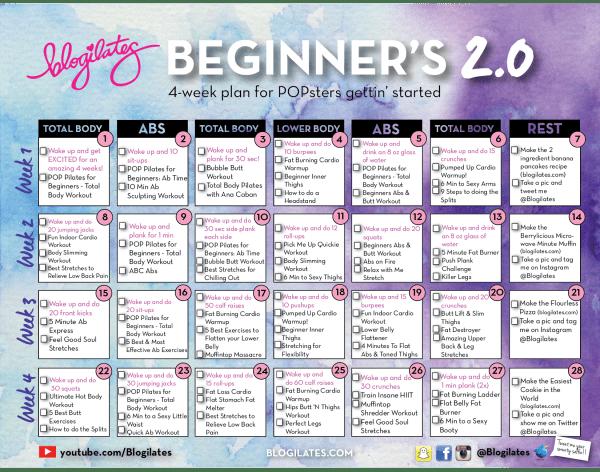 NEW Beginners Calendar 20