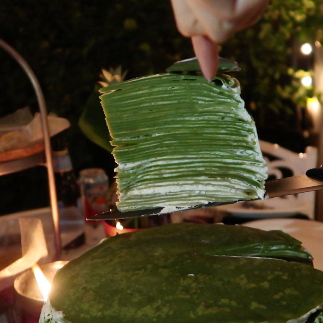 green tea matcha mille cake