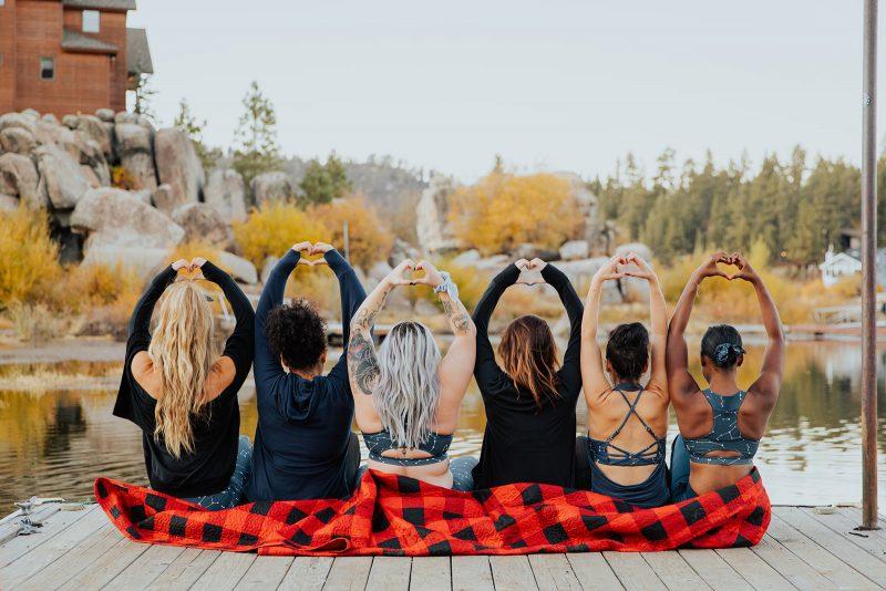 popflex powergirls photoshoot at big bear lake retreat