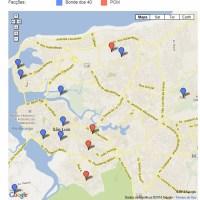 Veja - Mapa do tráfico: Bonde dos 40 e PCM disputam venda de crack em São Luís