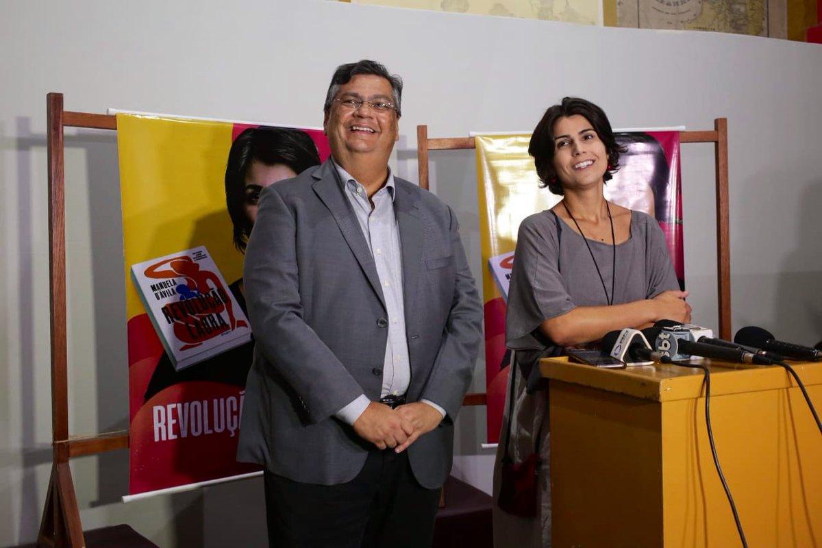 Esquerda não pode se isolar, diz Manuela D'Ávila ao lado de Flávio Dino no Maranhão*