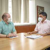 Othelino e Márcio Jerry discutem execução de obras viabilizadas por emendas parlamentares