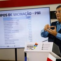Governador Flávio Dino anuncia novos grupos para vacinação contra Covid-19