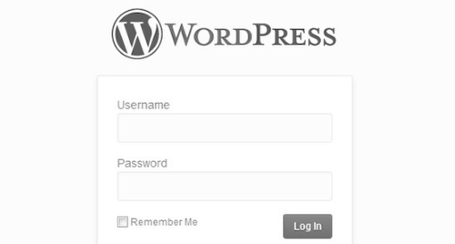 Login do Wordpress com a sua logo