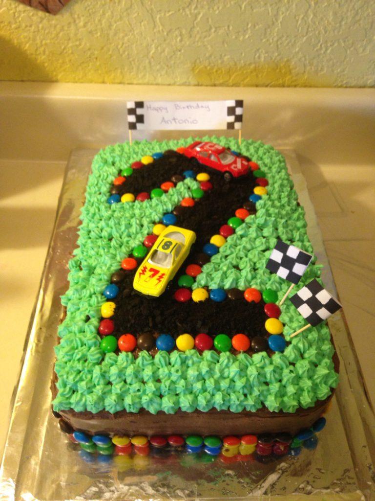 Torte Di Compleanno Facili Per Bambini Pista Macchinine