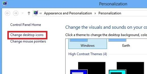 how to add icons to desktop in Windows 8 and 8.1