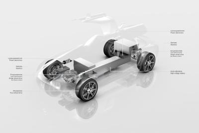 La nuova Mercedes SLS AMG sarà spinta da quatto possenti motori da 400 kW alimentati a batteria