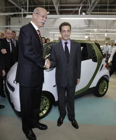 Sarà prodotta in Francia la smart fortwo electric drive
