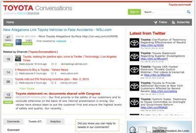 Toyota ricorre a Twitter per riparare la sua immagine
