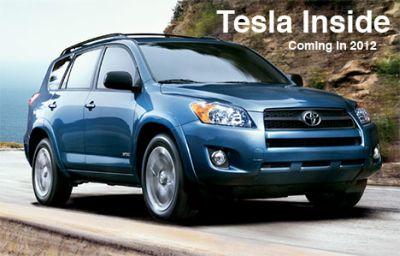 Toyota RAV4 anche elettrica grazie a TESLA