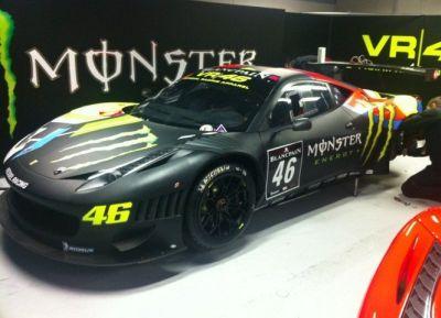 Valentino Rossi svela su Twitter la Ferrari 458 Italia GT3 VR46-Monster