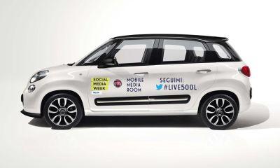 """Fiat 500L sarà la """"Mobile Media Room"""" della Social Media Week Milano 2013"""