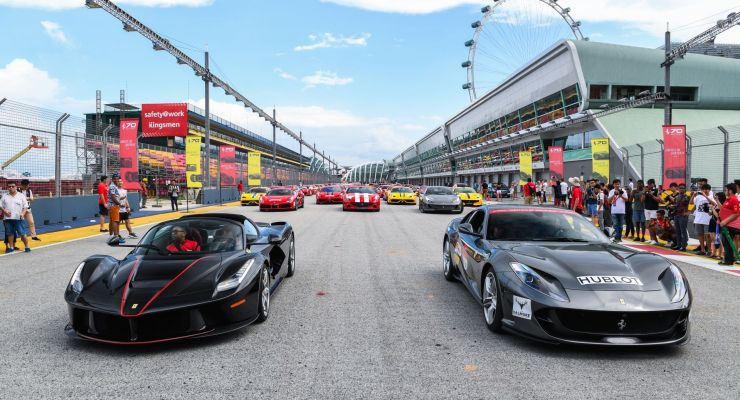 Ferrari protagonista a Singapore