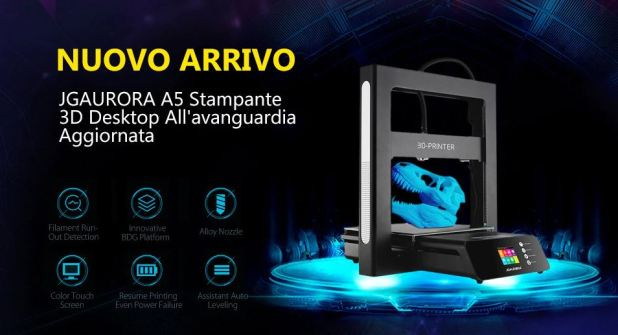 JGAURORA A5 Stampante 3D