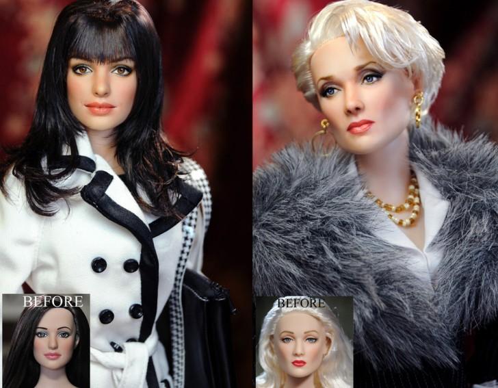 munecas Miranda Priestly meryl Streep Andrea Sachs Anne Hathaway diablo prada