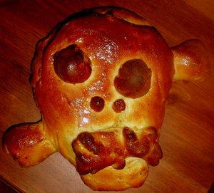 dia muertos mexico pan gollete tzompantli