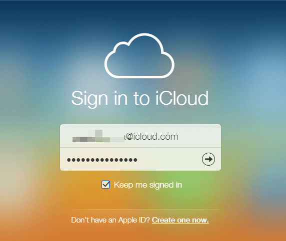 login to icloud