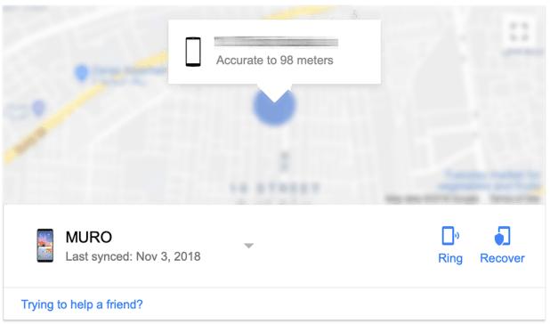 العثور على هاتفك في نتائج جوجل