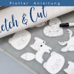 Anleitung: Sketch & Cut – Arbeiten mit Linienfarben