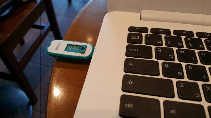 USBメモリを挿したところ