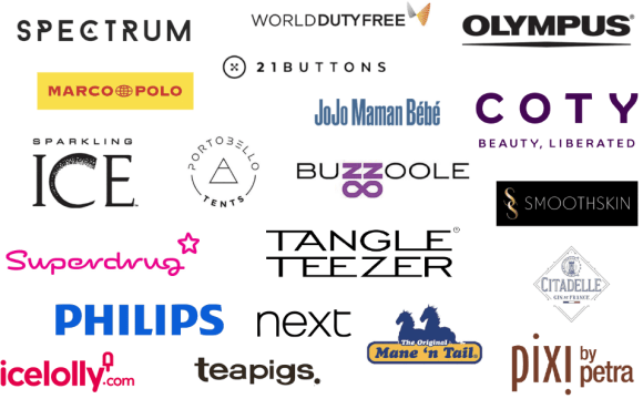 Blogosphere Awards Sponsors including Spectrum, World Duty Free, 21 Buttons, Tangle Teezer, Phillips, Pixi, Citadelle Gin and Olympus