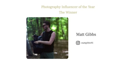 Photography Influencer of the Year 2021