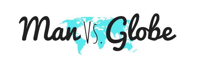 man vs globe logo