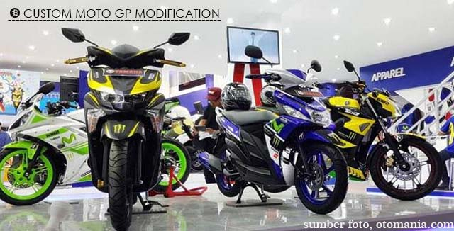 Custom Modifikasi Motor Yamaha edisi Moto GP