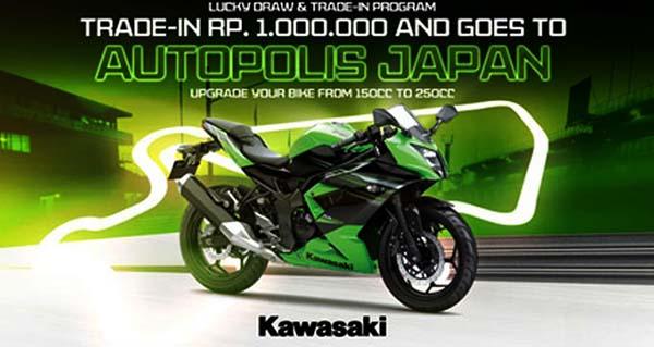 Beli Ninja 250 RR Mono bisa Gratis ke Jepang