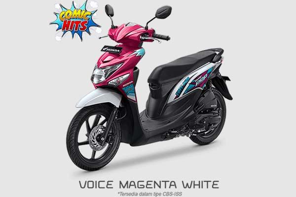 Pilihan Warna Honda BeAT POP Comic Hits warna Pink Putih