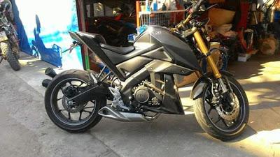 Modifikasi Yamaha Xabre knalpot Underbelly
