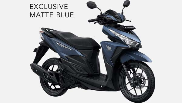 Pilihan Warna All New Vario 150 Exclusive 2016 warna Biru Matt