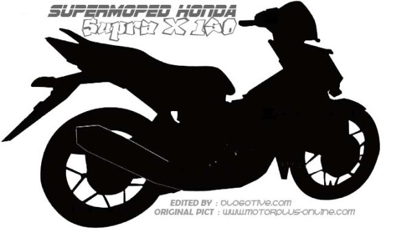 Honda Supra X 150 siluet