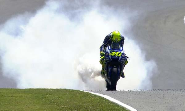 Valentino Rossi gagal di Mugello