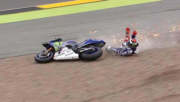 Lorenzo lambat dan terjatuh di Jerman