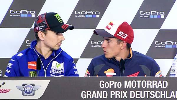 MotoGP Jerman, Jorge Lorenzo dan Marc Marquez