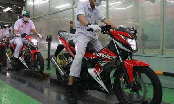 Sonic 150R warna Energetic Red baru