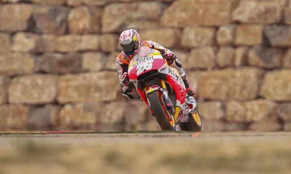 Dani Pedrosa di FP 2 MotoGP Aragon