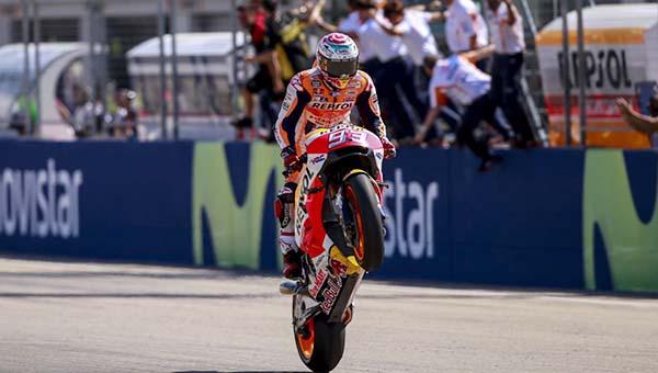 Hasil MotoGP Aragon, Marquez menang