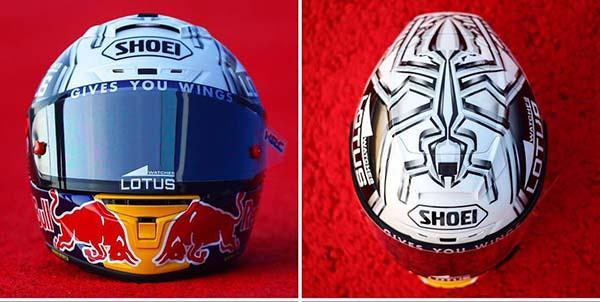 Helm Spesial Marc Marquez di Misano