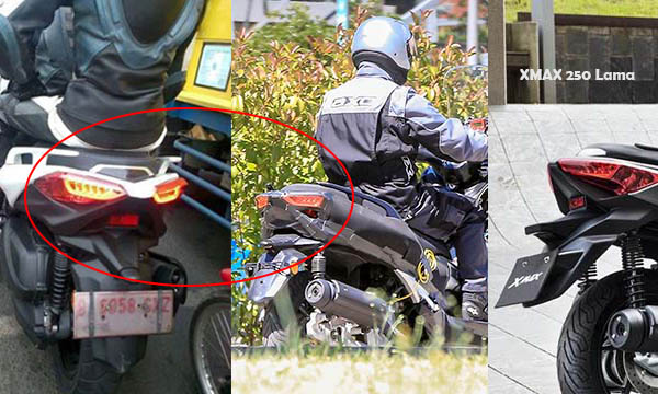 Komparasi dari belakang antara XMax Indonesia, Eropa (baru) dan Eropa lama