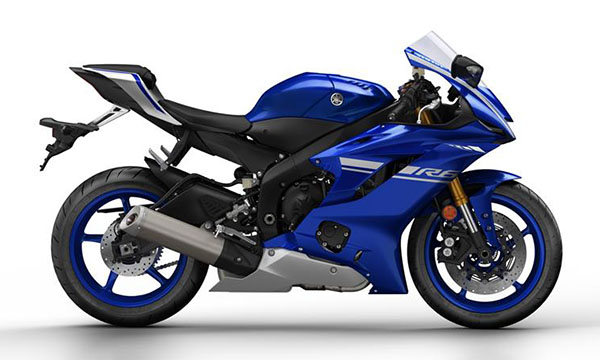 Yamaha R6 2017 warna biru