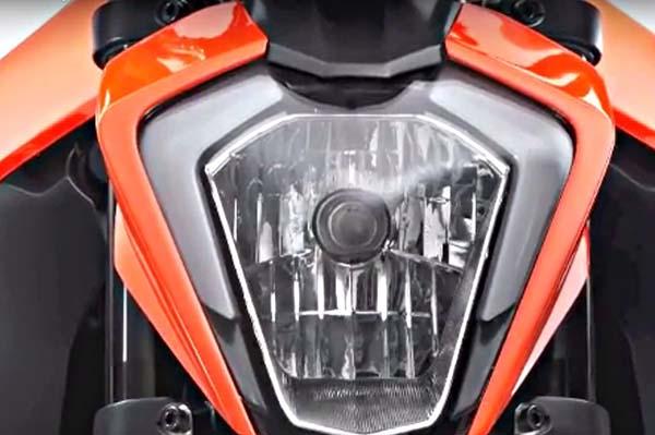 Lampu KTM Duke 250 2017 masih bohlam