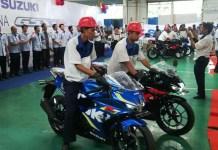 GSX-R150 di pabrik Suzuki