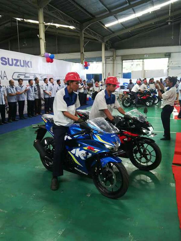 Suzuki GSX-R150 di produksi massal perdana