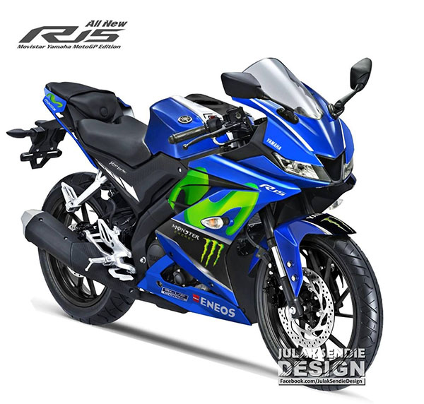 All New Yamaha R15 Livery MotoGP Movistar